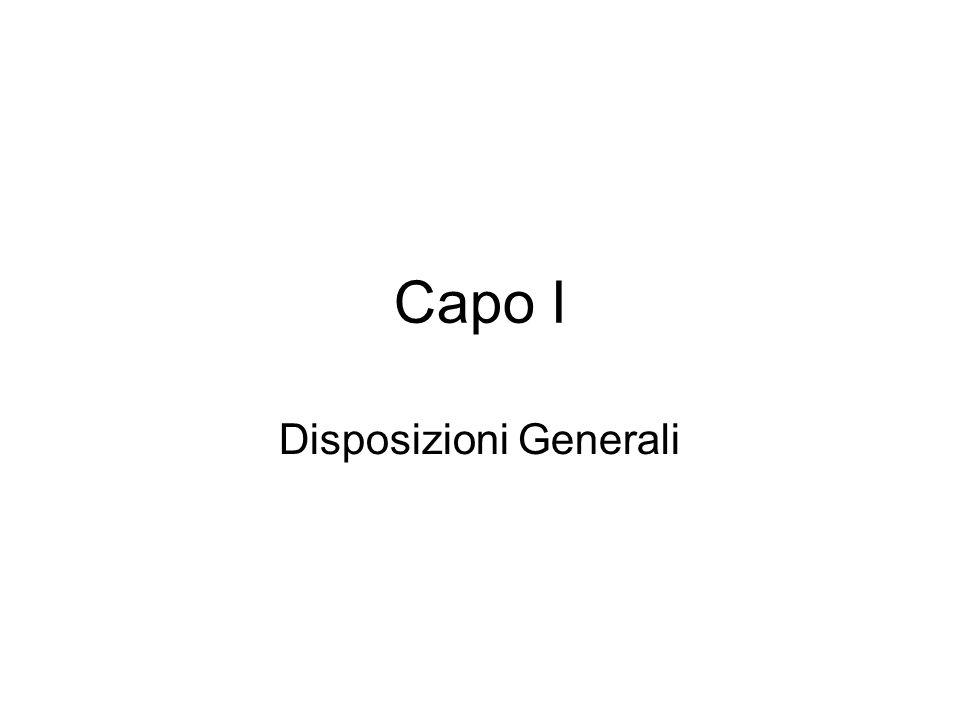 Disposizioni Generali