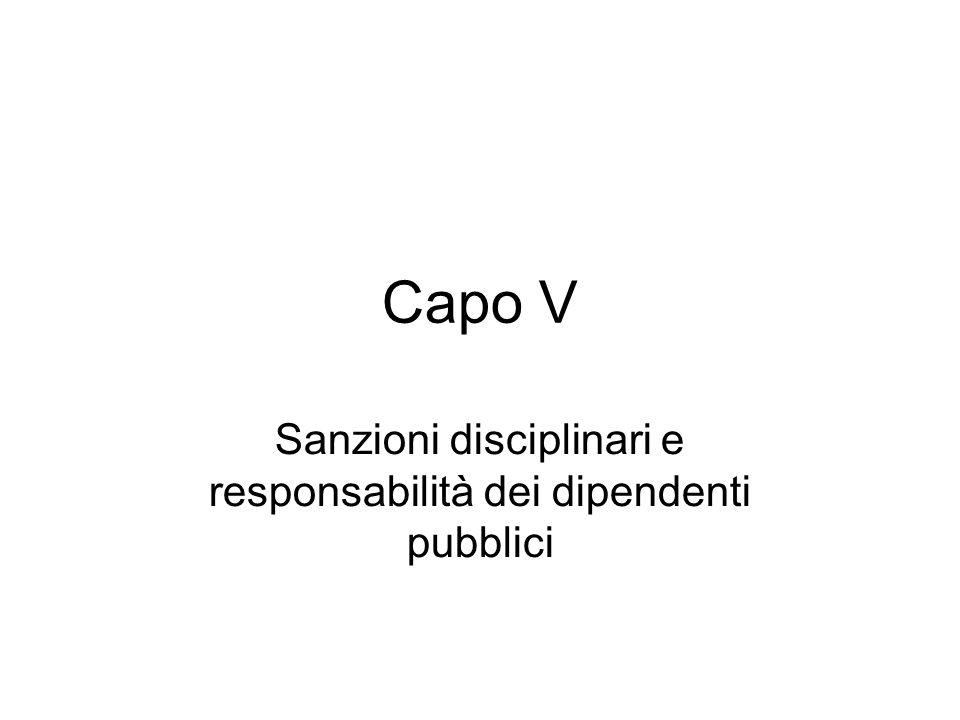 Sanzioni disciplinari e responsabilità dei dipendenti pubblici