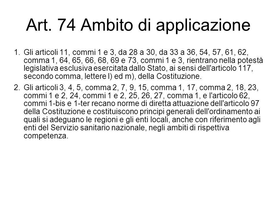 Art. 74 Ambito di applicazione