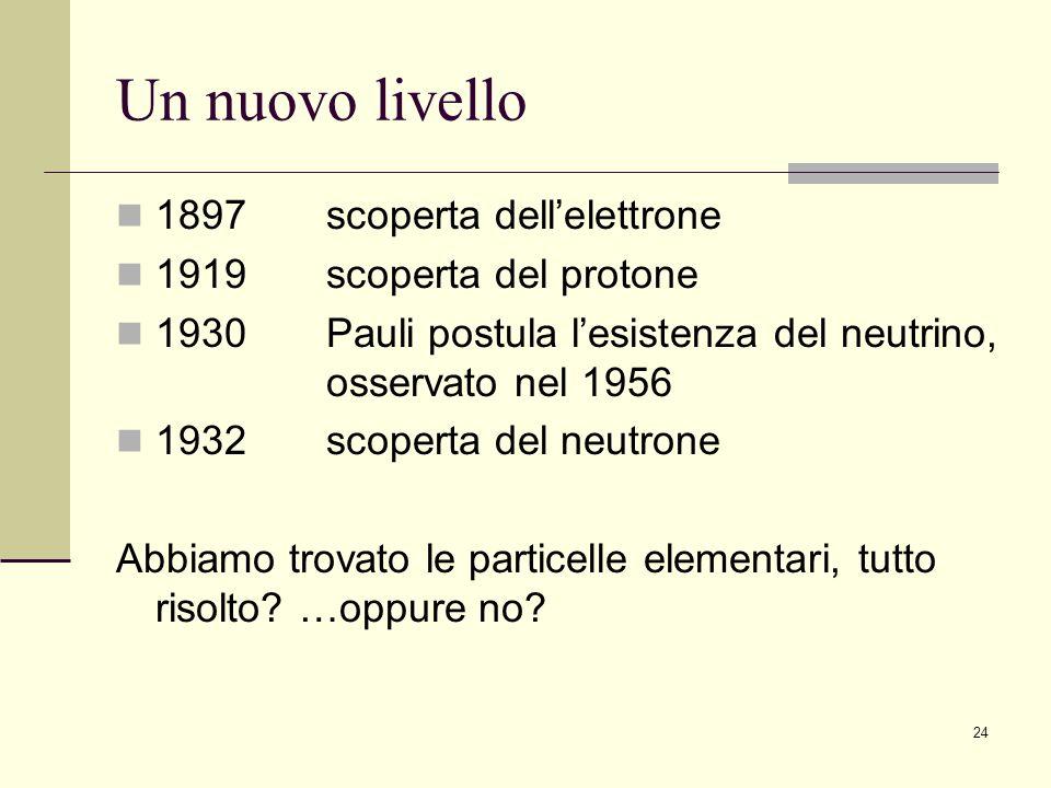 Un nuovo livello 1897 scoperta dell'elettrone