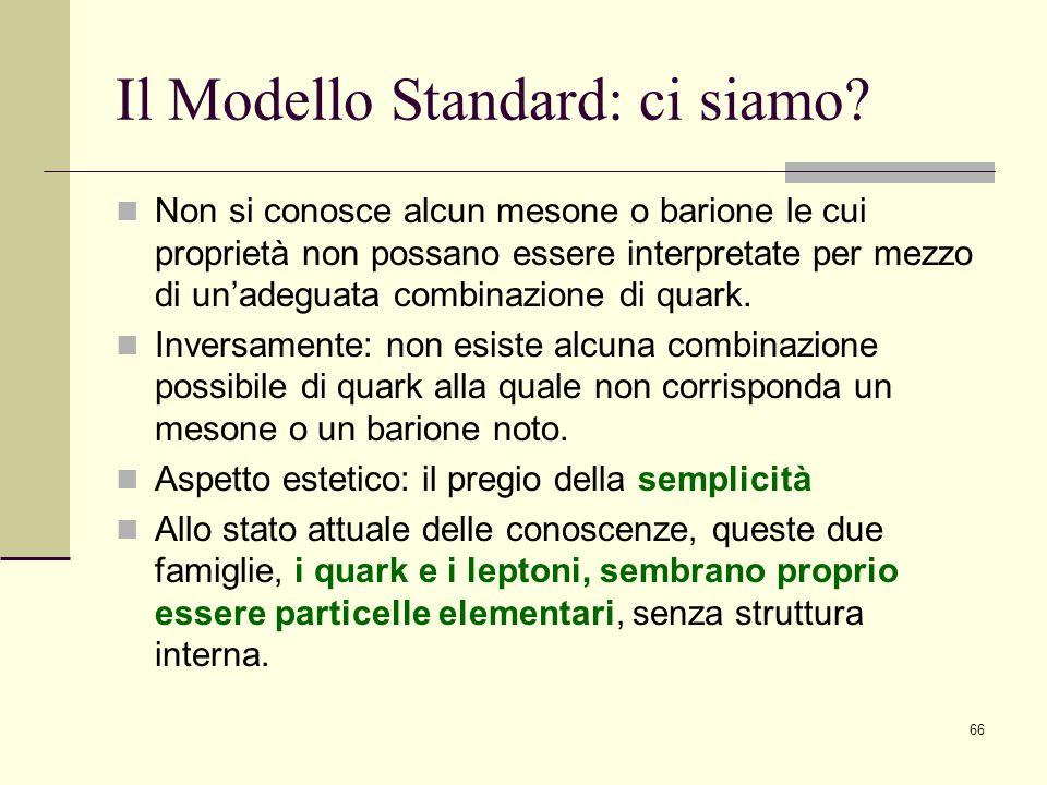 Il Modello Standard: ci siamo