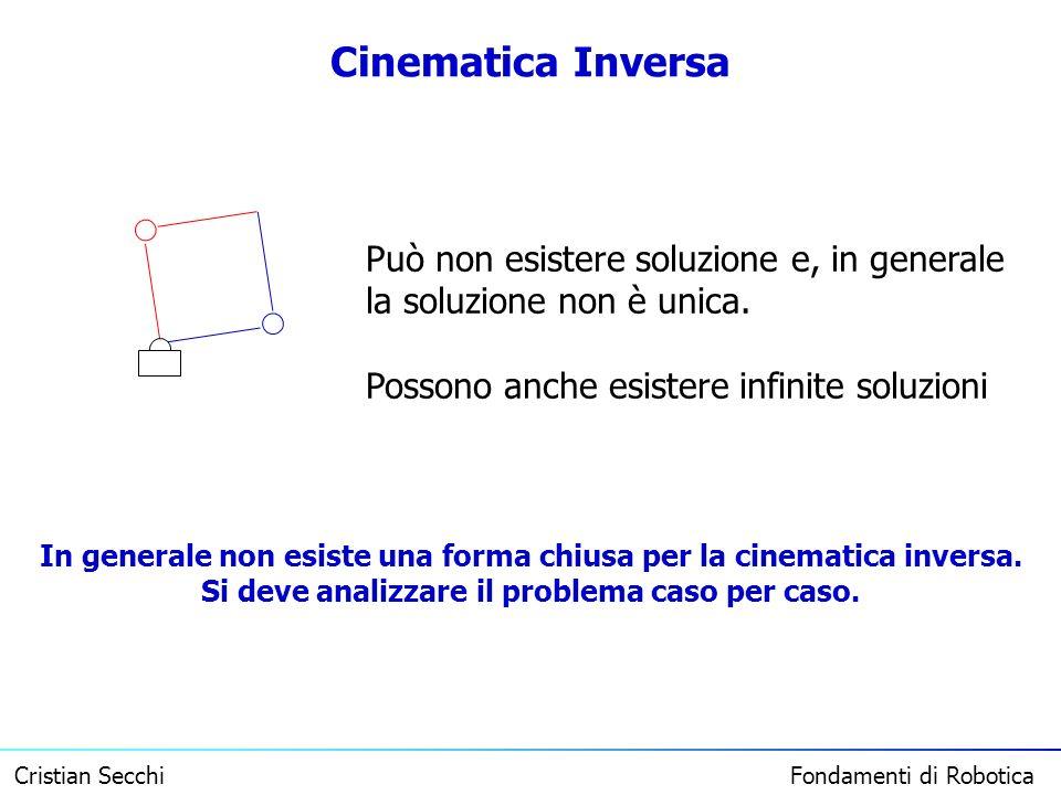 Cinematica Inversa Può non esistere soluzione e, in generale