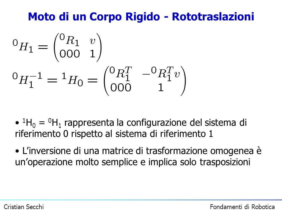 Moto di un Corpo Rigido - Rototraslazioni
