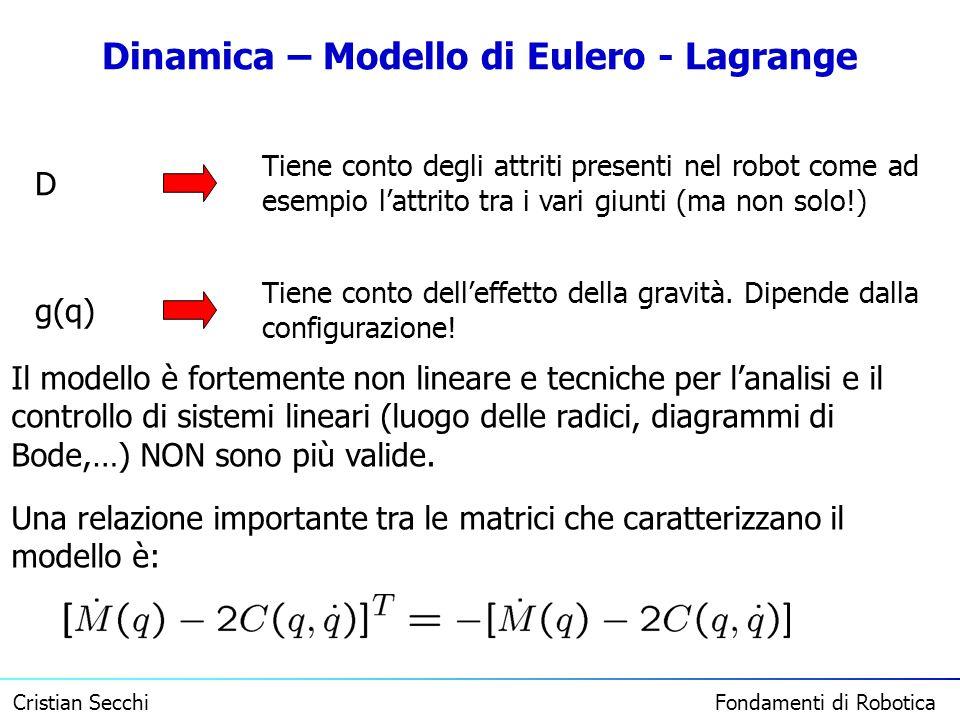 Dinamica – Modello di Eulero - Lagrange