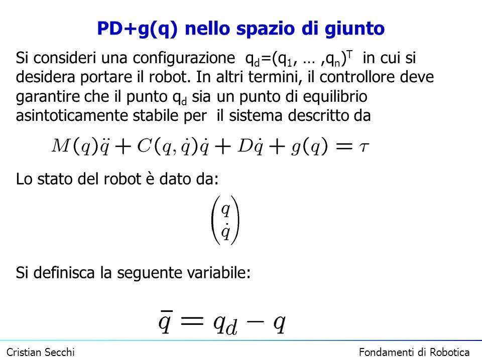 PD+g(q) nello spazio di giunto