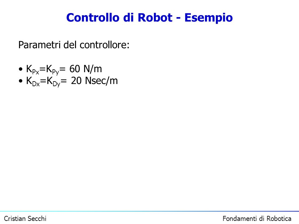 Controllo di Robot - Esempio