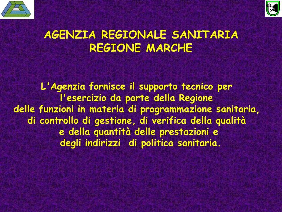 AGENZIA REGIONALE SANITARIA REGIONE MARCHE