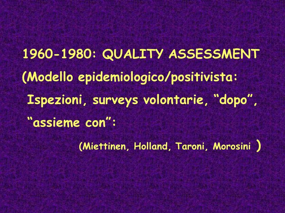 (Modello epidemiologico/positivista:
