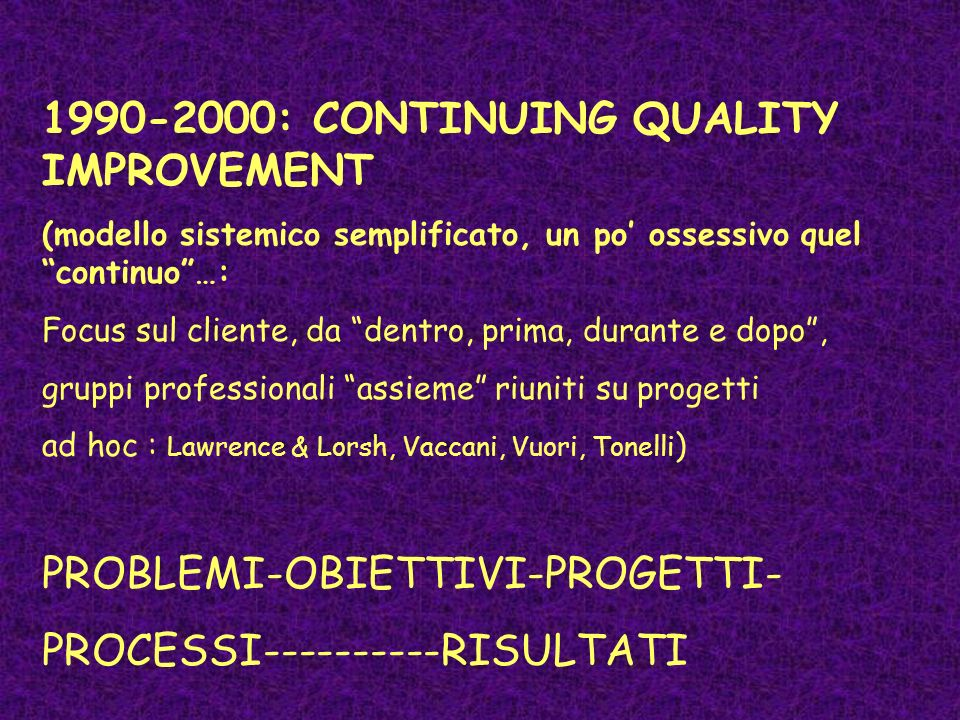 1990-2000: CONTINUING QUALITY IMPROVEMENT