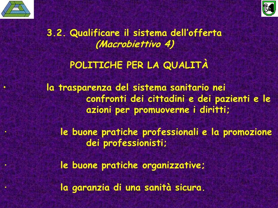 3.2. Qualificare il sistema dell'offerta (Macrobiettivo 4)
