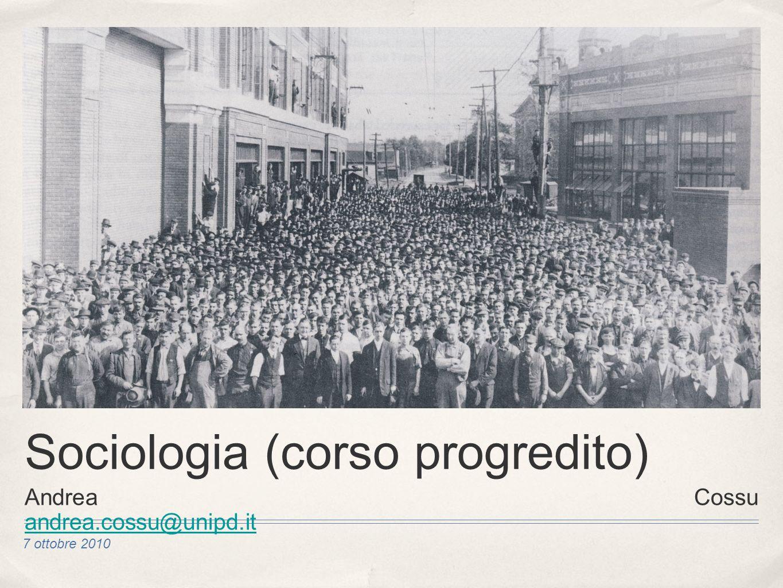 Sociologia (corso progredito)