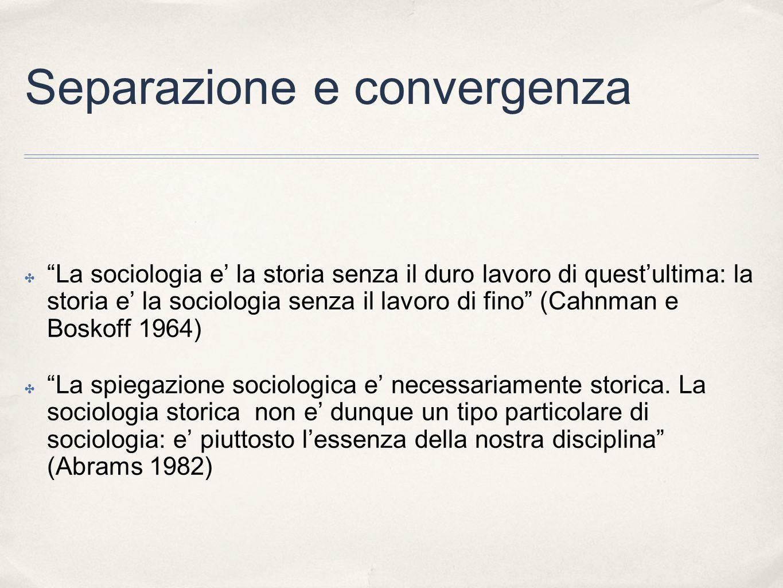 Separazione e convergenza