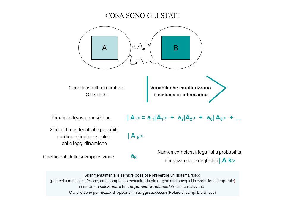 Variabili che caratterizzano il sistema in interazione