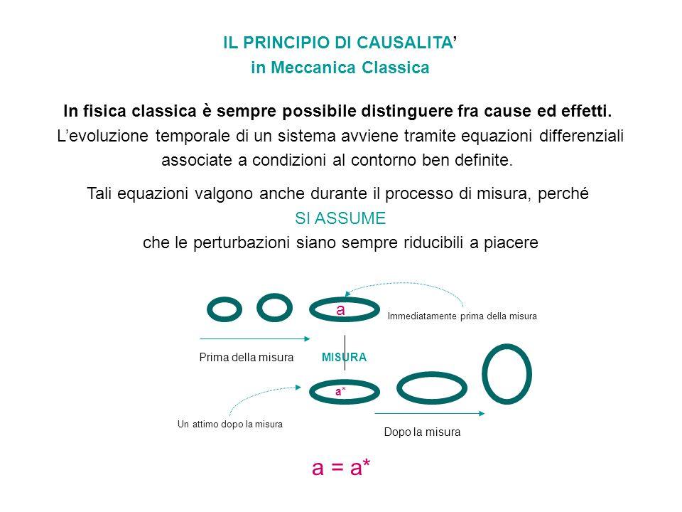 IL PRINCIPIO DI CAUSALITA'