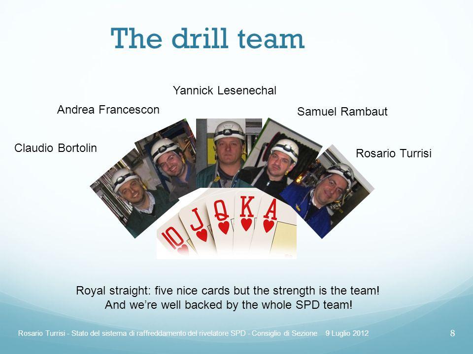 The drill team Yannick Lesenechal Andrea Francescon Samuel Rambaut