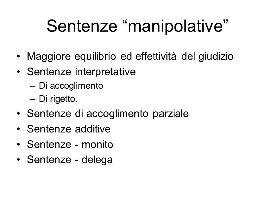 Sentenze manipolative