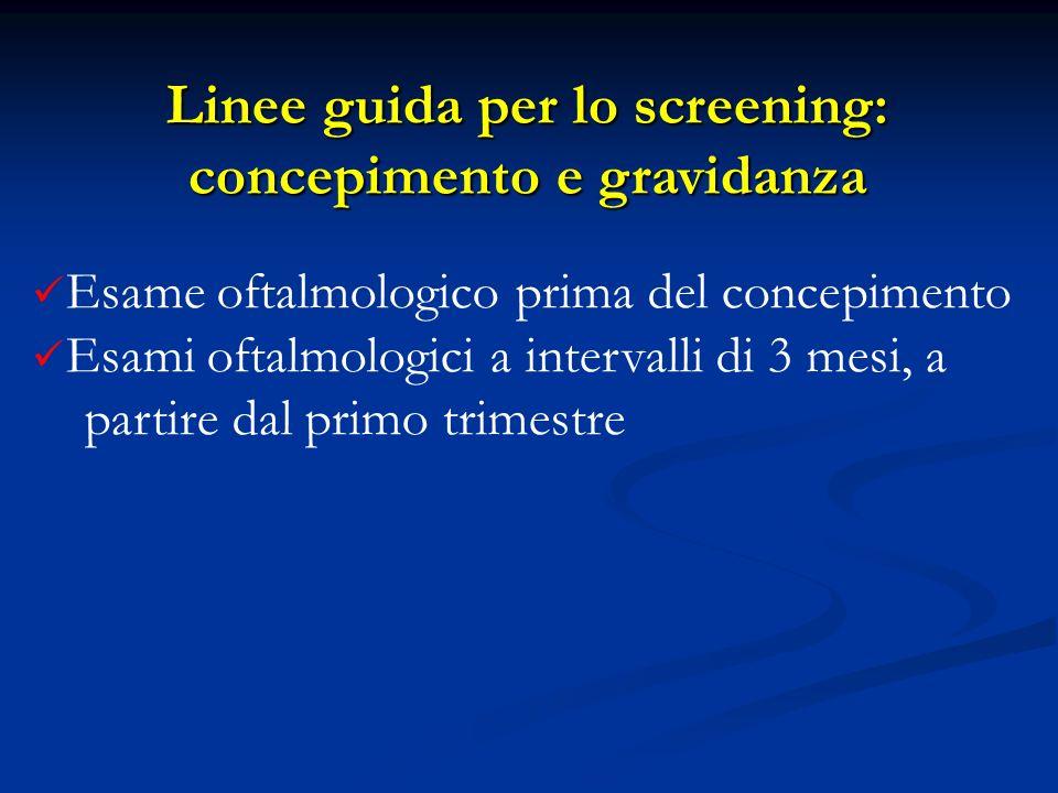 Linee guida per lo screening: concepimento e gravidanza