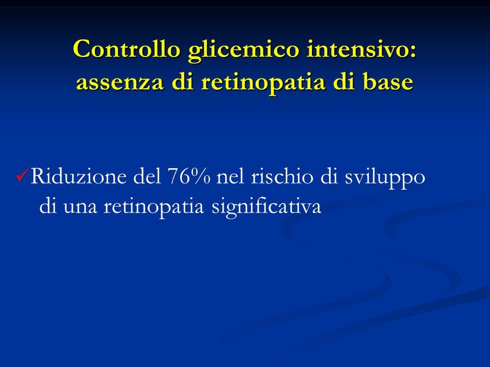 Controllo glicemico intensivo: assenza di retinopatia di base