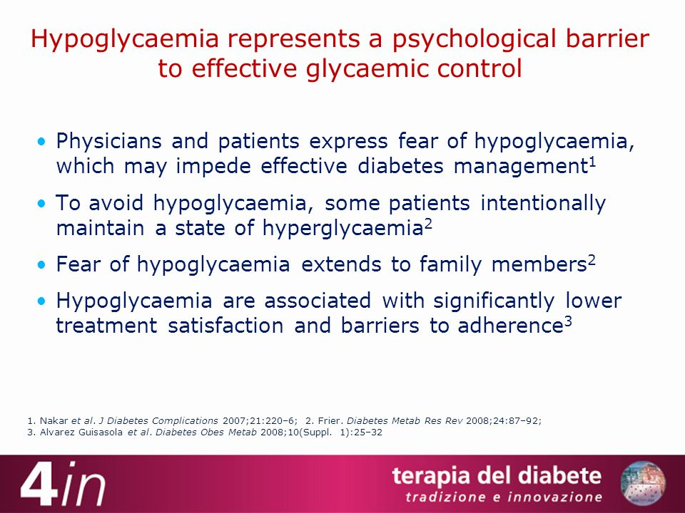 Hypoglycaemia represents a psychological barrier to effective glycaemic control