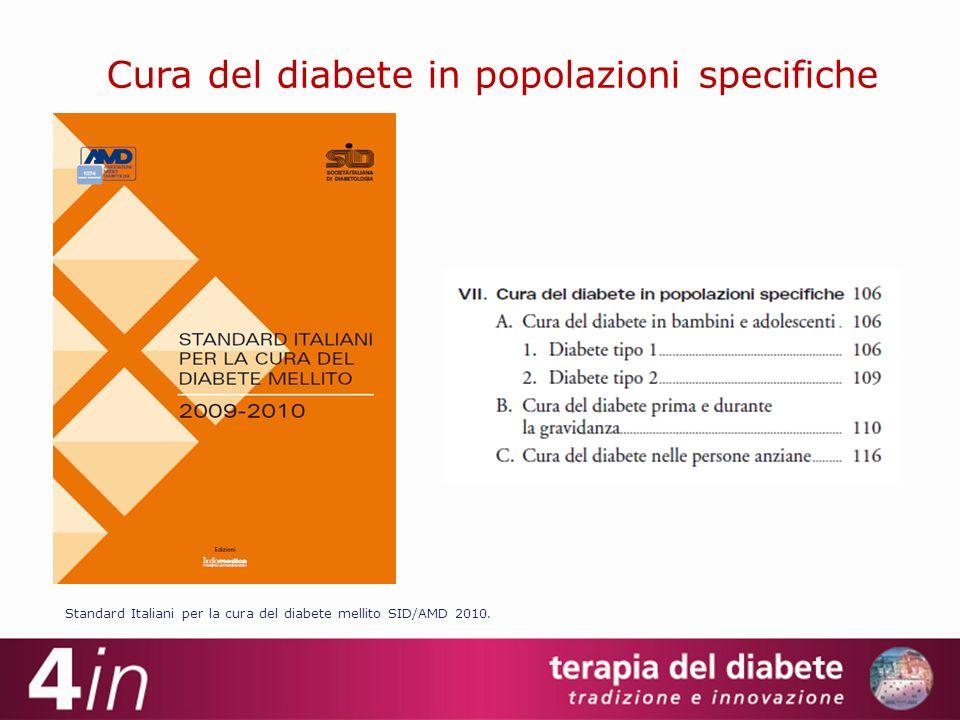 Cura del diabete in popolazioni specifiche