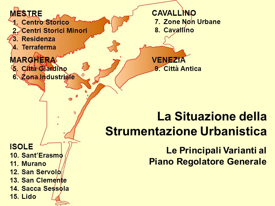 La Situazione della Strumentazione Urbanistica