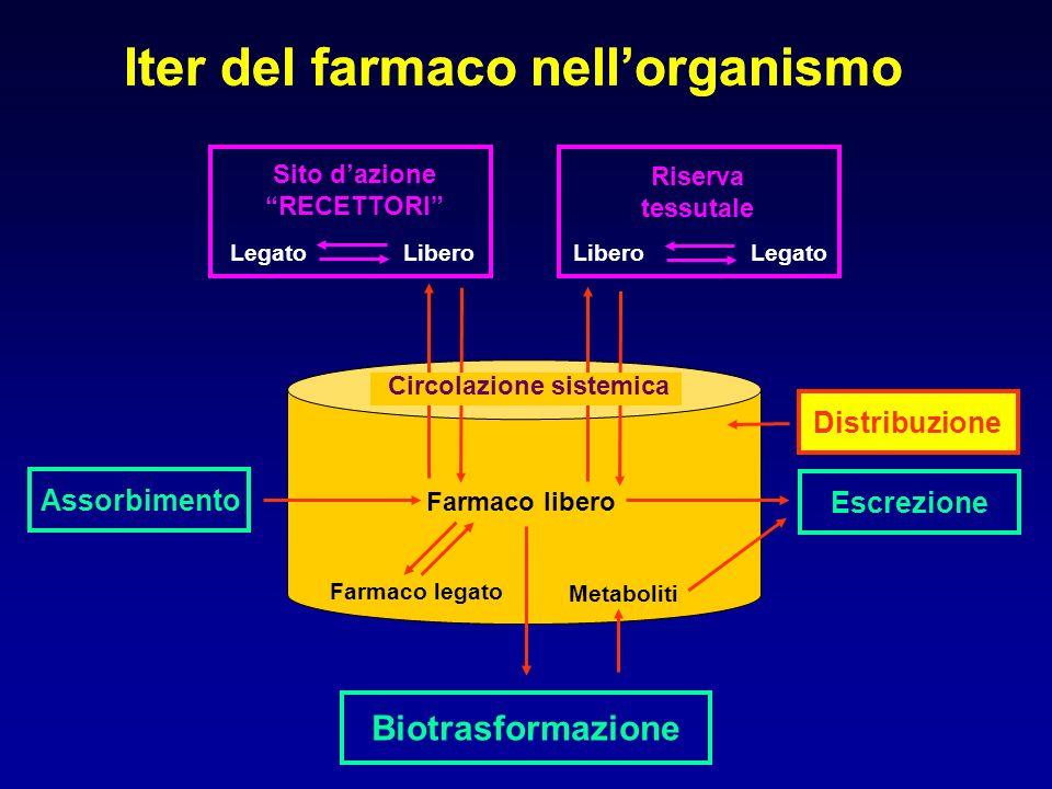 Ruolo dei trasportatori di membrana nel percorso farmacocinetico