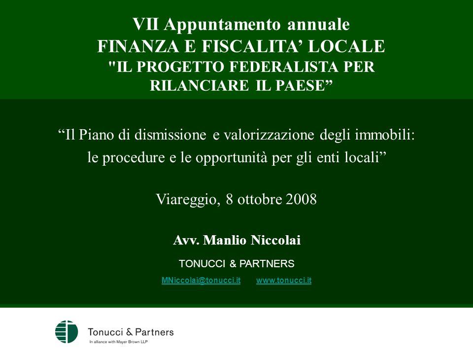 VII Appuntamento annuale FINANZA E FISCALITA' LOCALE