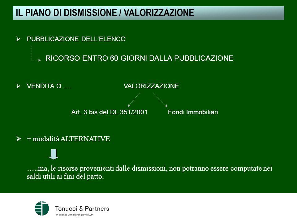 Art. 3 bis del DL 351/2001 Fondi Immobiliari