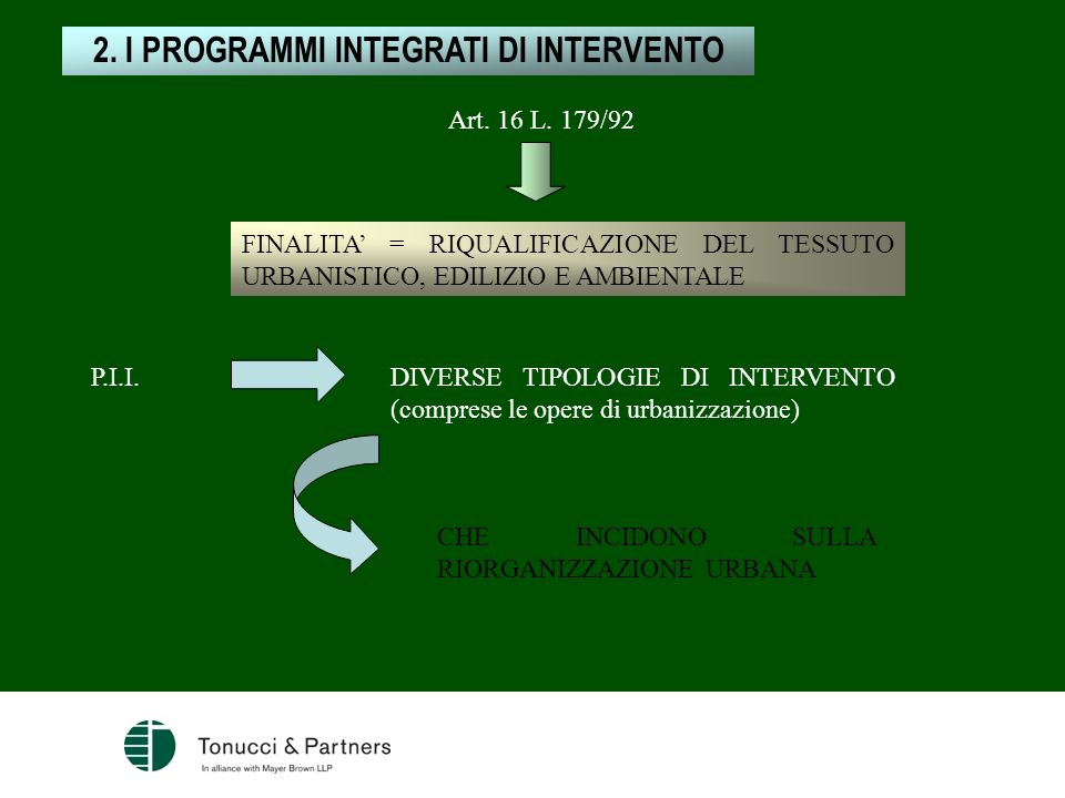 2. I PROGRAMMI INTEGRATI DI INTERVENTO