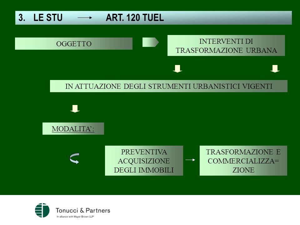 LE STU ART. 120 TUEL INTERVENTI DI TRASFORMAZIONE URBANA OGGETTO