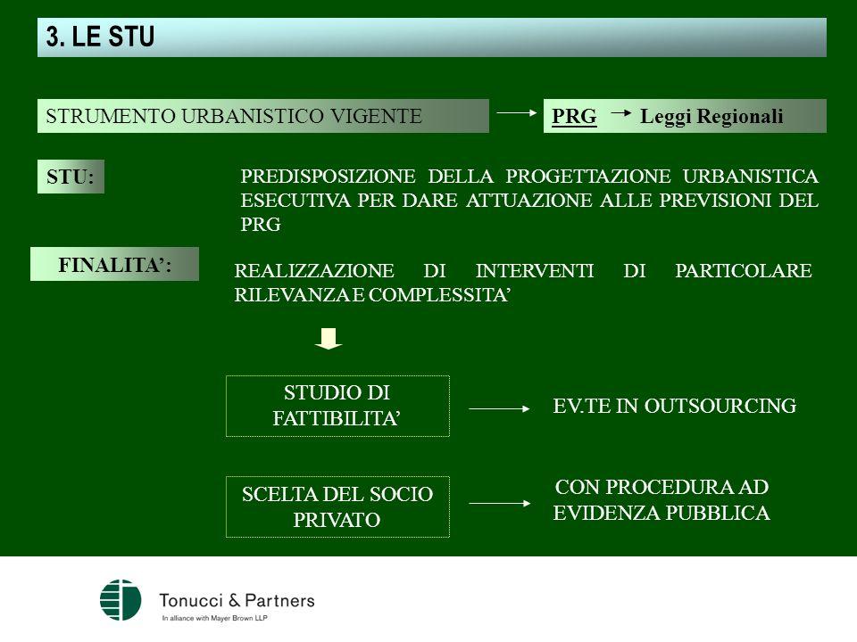 3. LE STU STRUMENTO URBANISTICO VIGENTE PRG Leggi Regionali STU: