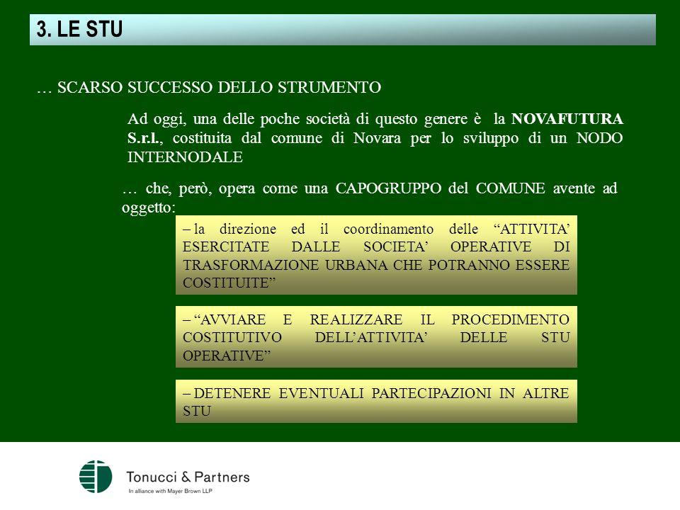 3. LE STU … SCARSO SUCCESSO DELLO STRUMENTO