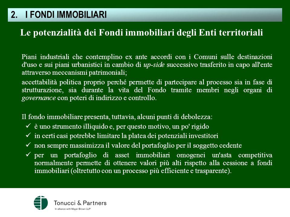Le potenzialità dei Fondi immobiliari degli Enti territoriali