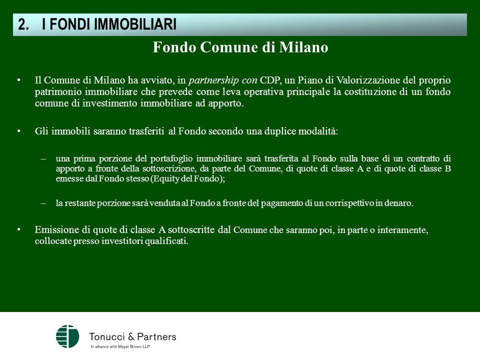 I FONDI IMMOBILIARI Fondo Comune di Milano