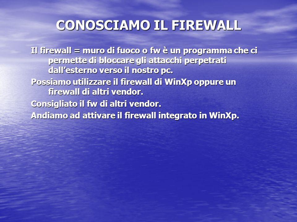 CONOSCIAMO IL FIREWALL