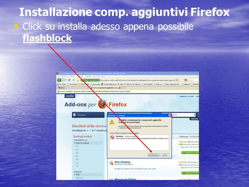Installazione comp. aggiuntivi Firefox