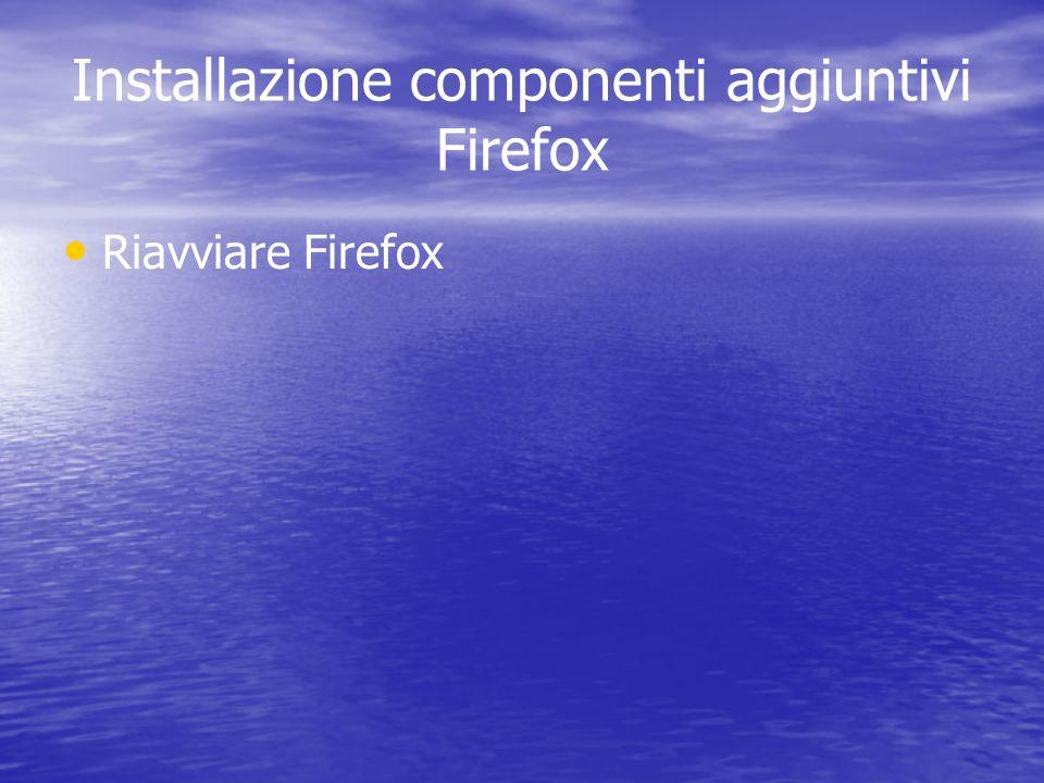 Installazione componenti aggiuntivi Firefox