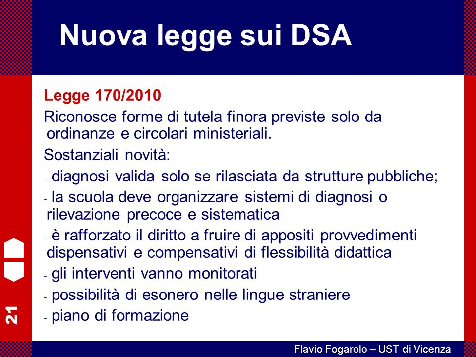 Nuova legge sui DSA Legge 170/2010
