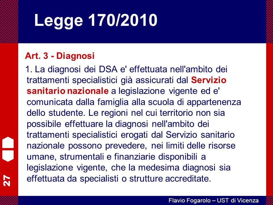 Legge 170/2010 Art. 3 - Diagnosi.