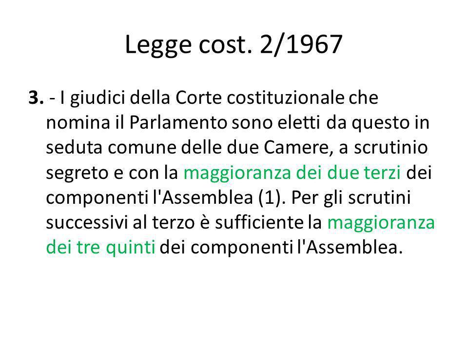 Legge cost. 2/1967