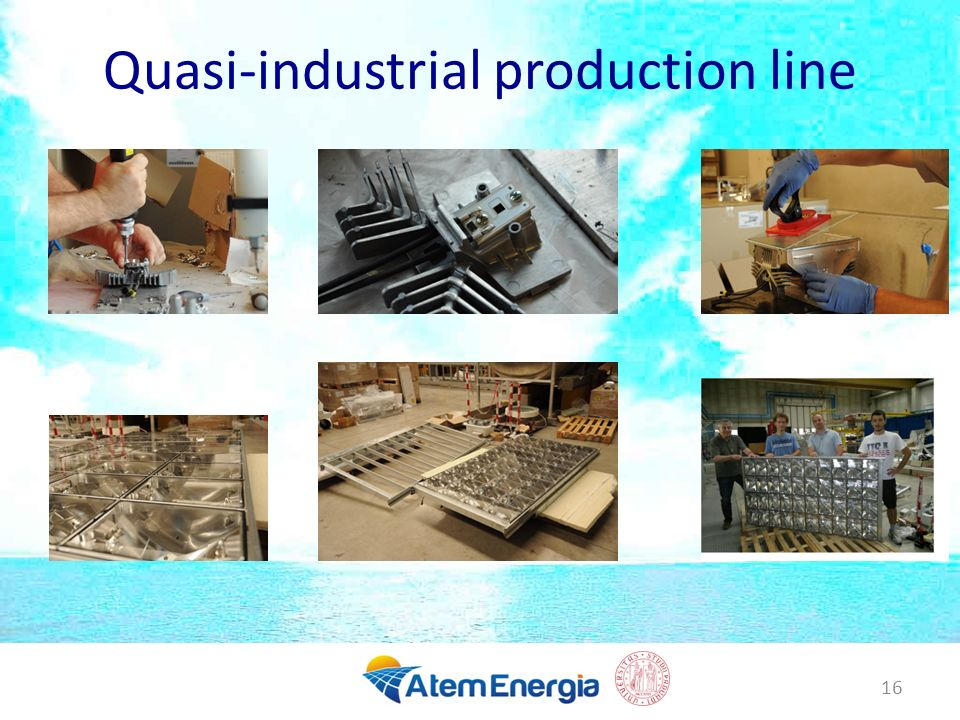 Quasi-industrial production line