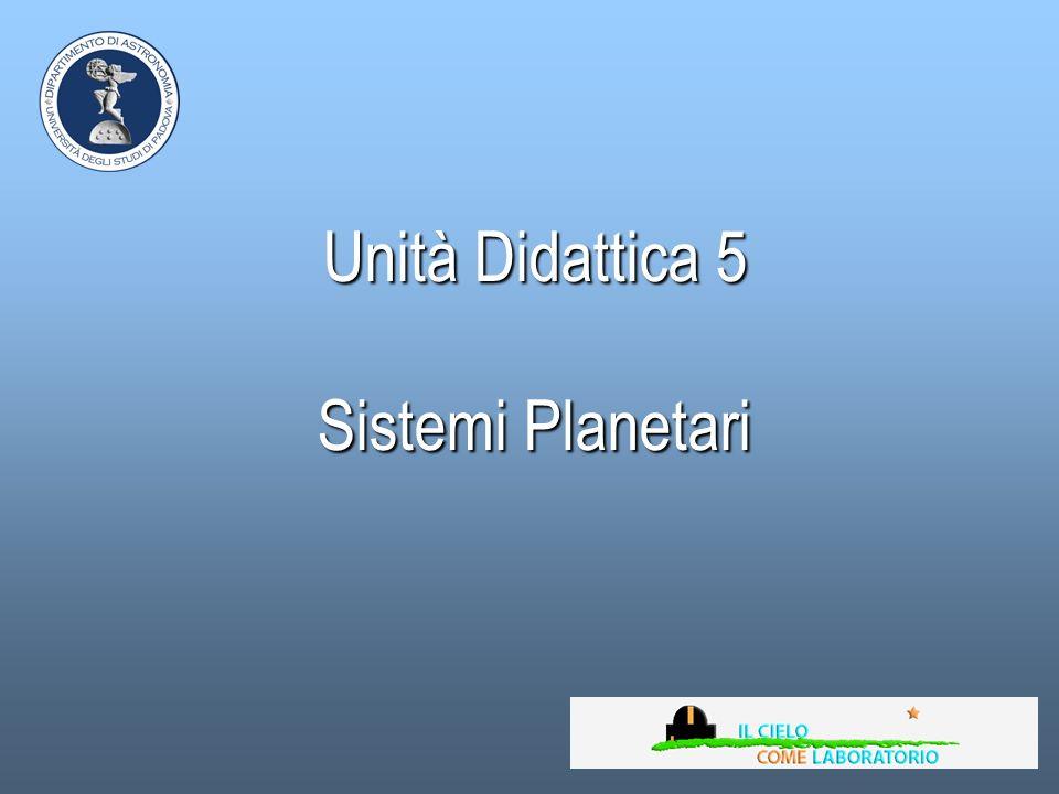 Unità Didattica 5 Sistemi Planetari