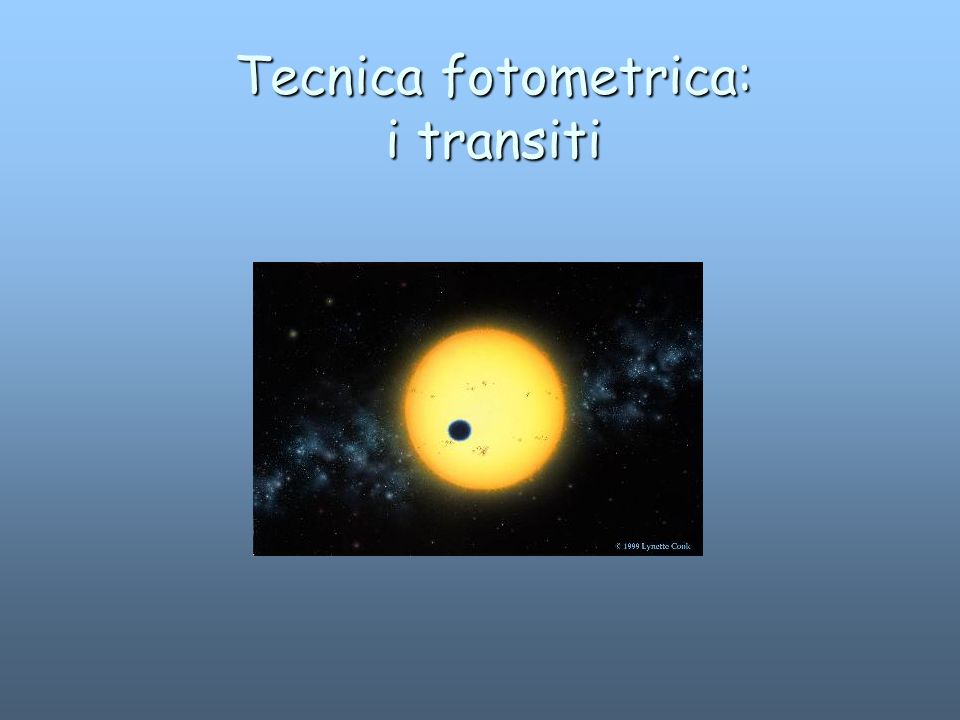 Tecnica fotometrica: i transiti