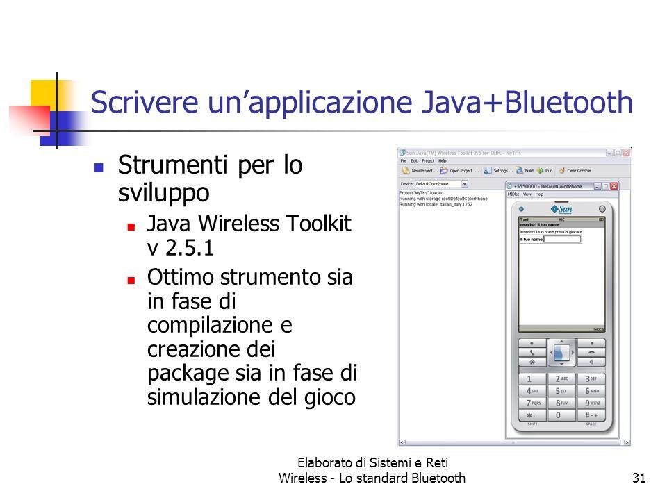 Scrivere un'applicazione Java+Bluetooth