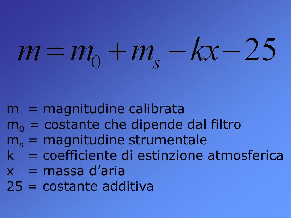 m = magnitudine calibrata