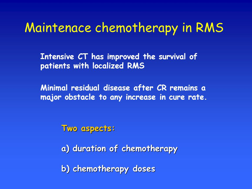 Maintenace chemotherapy in RMS