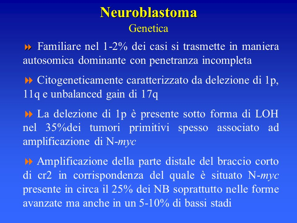 Neuroblastoma Genetica