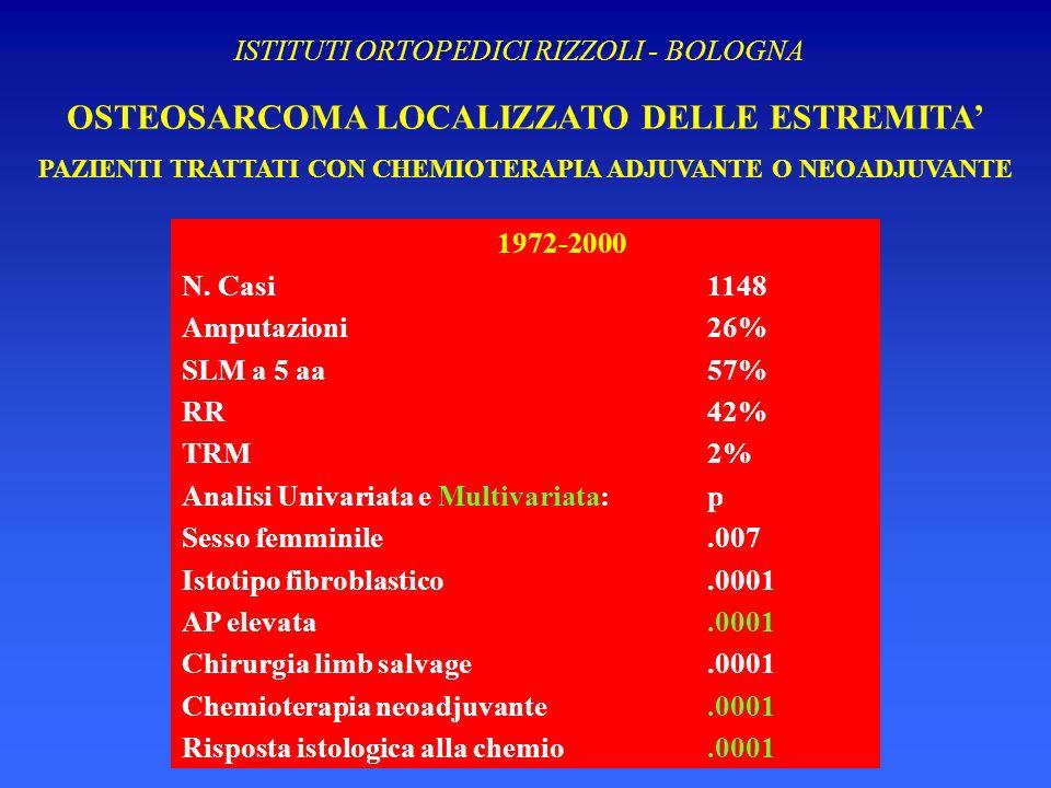 OSTEOSARCOMA LOCALIZZATO DELLE ESTREMITA'