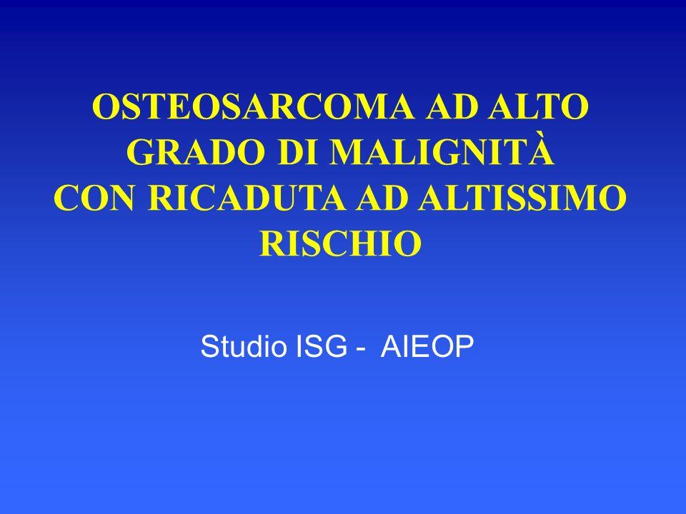 OSTEOSARCOMA AD ALTO GRADO DI MALIGNITÀ CON RICADUTA AD ALTISSIMO RISCHIO