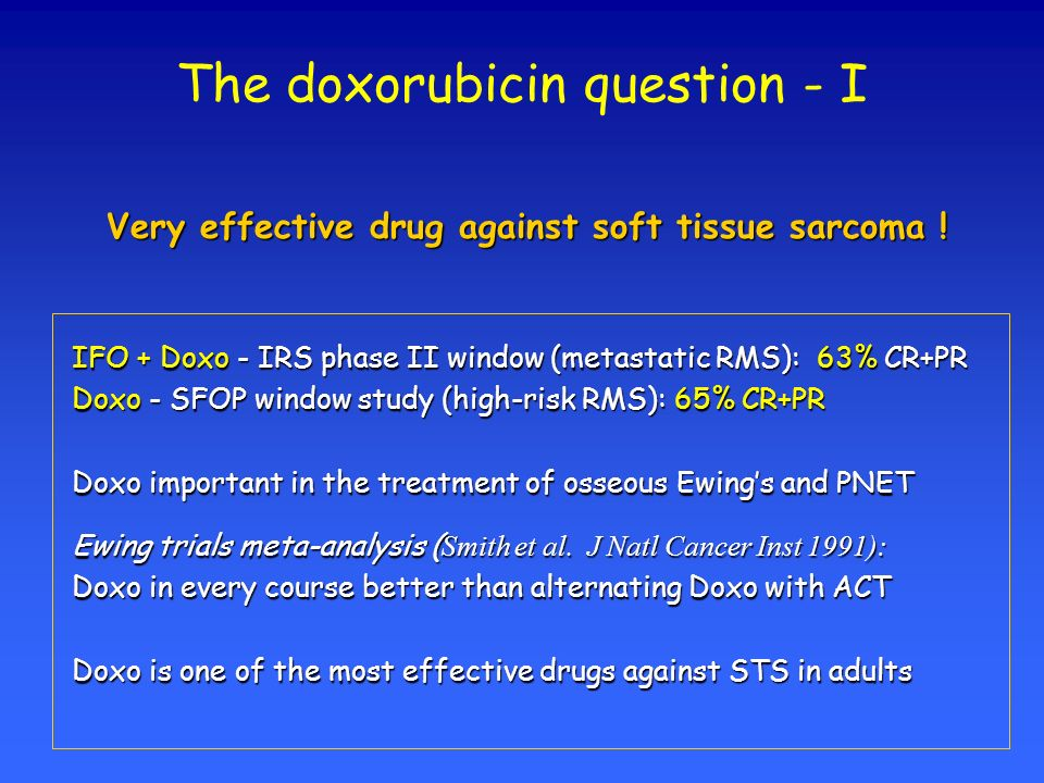 The doxorubicin question - I